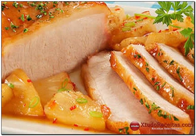 #Domingando com receita deliciosa de picanha suína ao molho de laranja